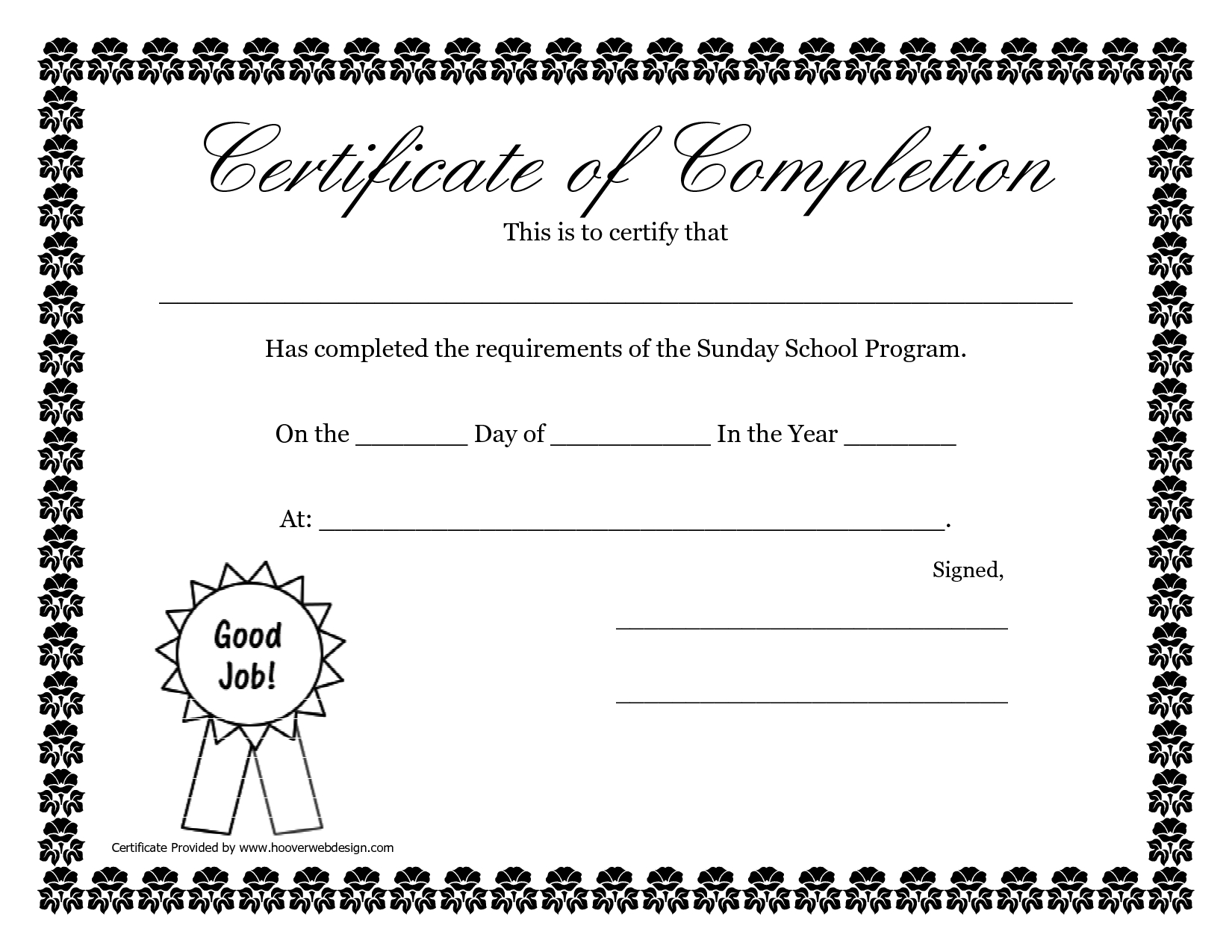 Sunday School Promotion Day Certificates  Sunday School Certificate Regarding Free Vbs Certificate Templates