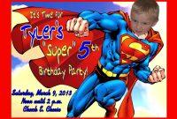 Superman Birthday Card Template Th Birthday Ideas Superman throughout Superman Birthday Card Template