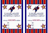 Superman Birthday Invitations  Birthday Printable with regard to Superman Birthday Card Template