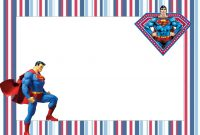 Superman Free Printable Invitations  Spiderman Party In throughout Superman Birthday Card Template