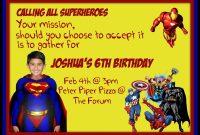 Superman Invitation Card Template  Sunshinebizsolutions within Superman Birthday Card Template