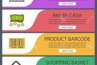 Supermarket Banner Templates Set Grocery Store Product Barcode with regard to Product Banner Template