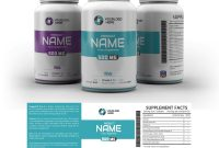 Supplement Label Template  Yupidesigns for Dietary Supplement Label Template