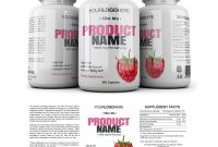 Supplement Label Template  Yupidesigns intended for Dietary Supplement Label Template