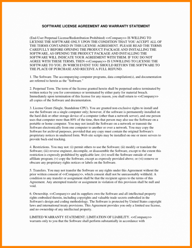 Supplier Warranty Agreement Sample For Limited Warranty Agreement Template