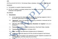 Supply Agreement  Free Template  Sample  Lawpath regarding Preferred Supplier Agreement Template