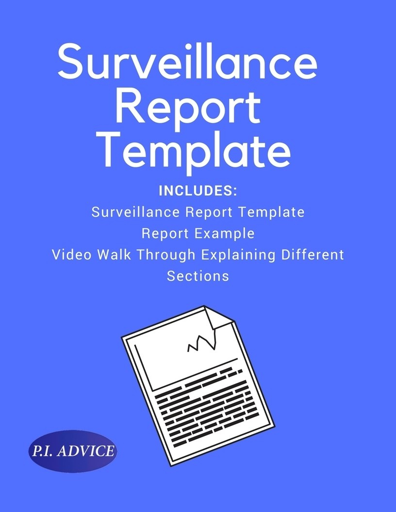 Surveillance Report Template With Regard To Private Investigator Surveillance Report Template