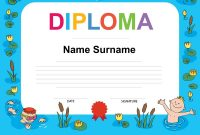 Swimming Award Certificate Template Royalty Free Vector pertaining to Swimming Award Certificate Template