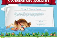 Swimming Award Certificate Template Stock Illustration inside Swimming Certificate Templates Free