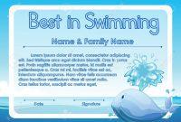 Swimming Certificate Template  Sansurabionetassociats throughout Free Swimming Certificate Templates