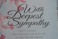 Sympathy Card In The November Car  Driver inside Sorry For Your Loss Card Template