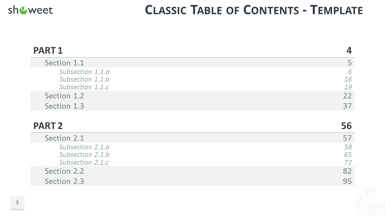 Table Of Content Templates For Powerpoint And Keynote Intended For Blank Table Of Contents Template