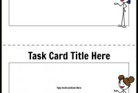 Task Card Template  Storyboardworksheettemplates in Task Card Template