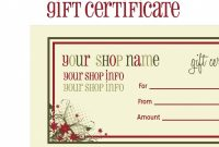 Tattoo Gift Certificate Template Free with Tattoo Gift Certificate Template