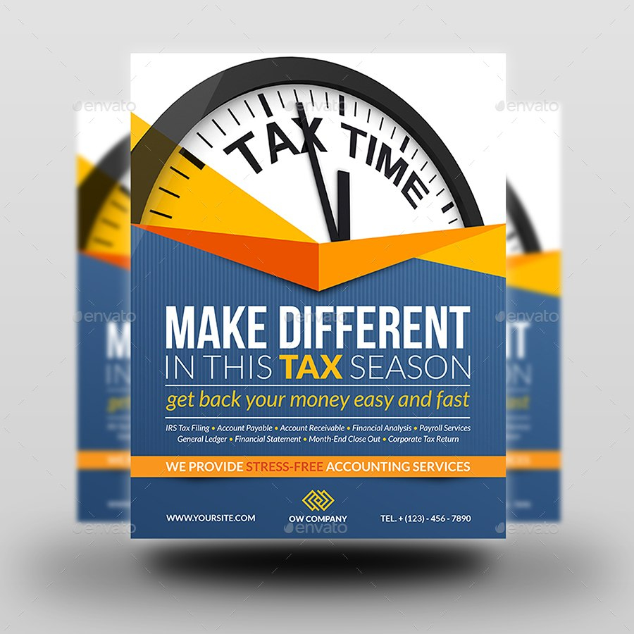 Tax And Accounting Flyer Templateowpictures  Graphicriver For Accounting Flyer Templates