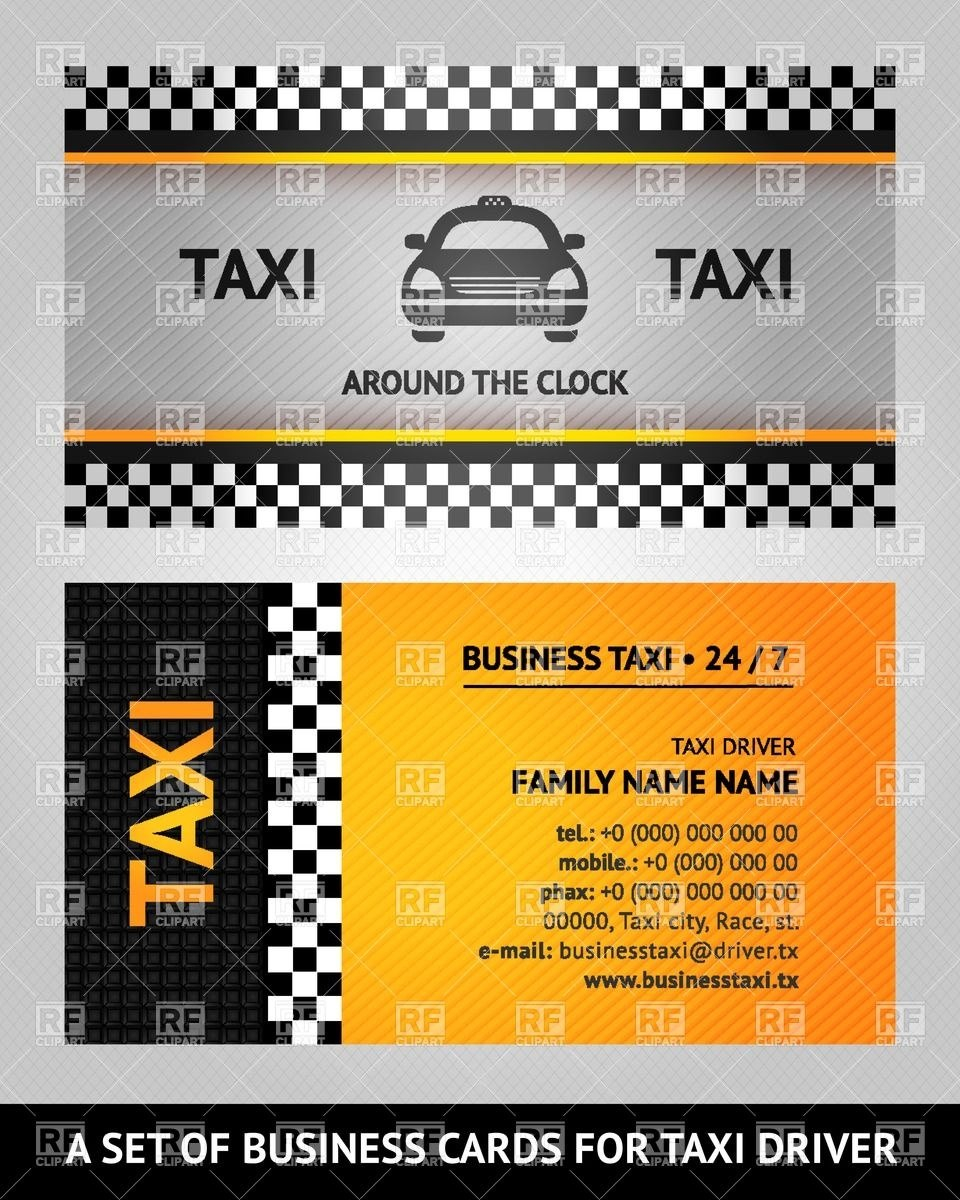 Taxi Calling Card Template Vector Image Of Transportation © Kuraza For Template For Calling Card