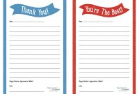 "Teacher Appreciation Week – Printable ""Thank You"" Notes  Children's pertaining to Thank You Card For Teacher Template"