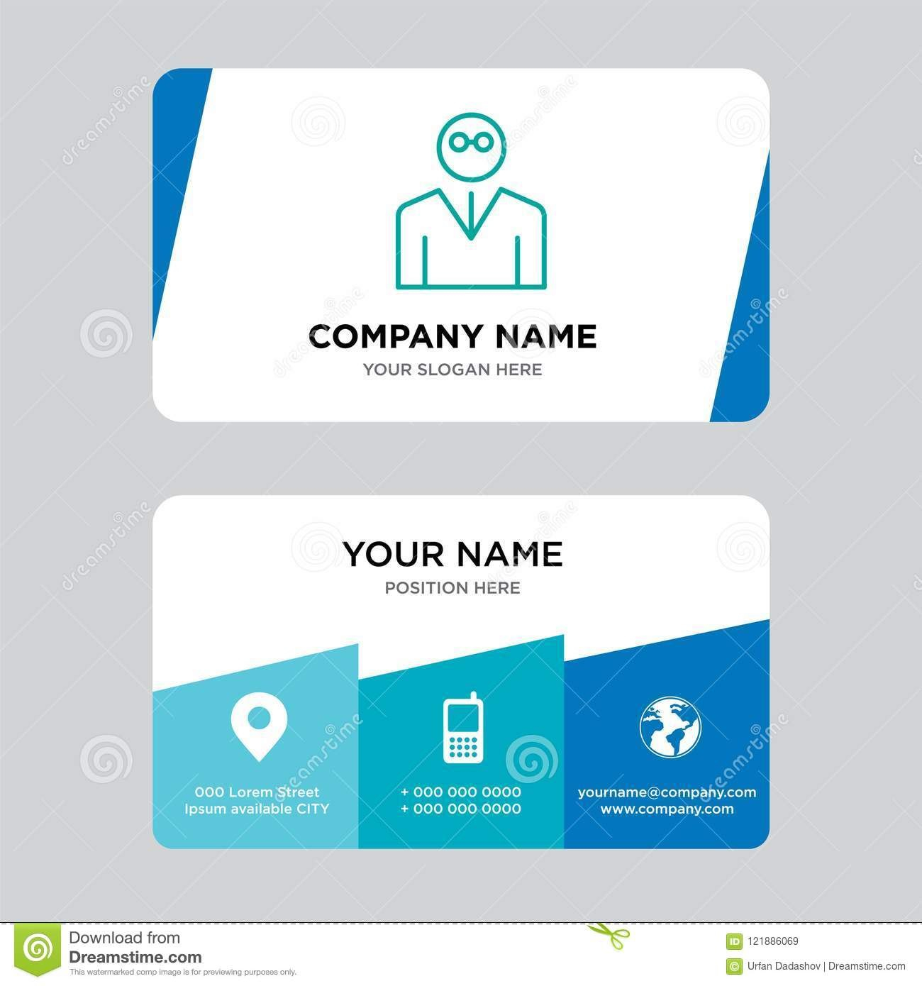 Teacher Business Card Design Template Visiting For Your Company With Regard To Teacher Id Card Template