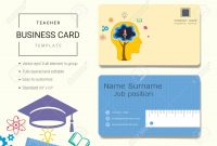 Teacher Business Card Or Name Card Template Simple Style Also pertaining to Business Cards For Teachers Templates Free