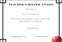 Teacherschoolprintable Student Awards with regard to Best Teacher Certificate Templates Free