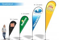 Teardrop  Shark Fin  Block  Banners  Expressway Signs inside Sharkfin Banner Template