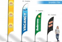 Teardrop  Shark Fin  Block  Banners  Expressway Signs within Sharkfin Banner Template
