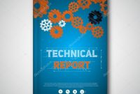 Technical Report Brochure Template — Stock Vector © Matju inside Technical Brochure Template