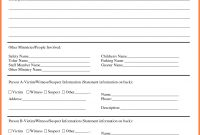 Technology Incident Report Template Templates Information Word regarding Template For Information Report