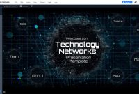 Technology Network Presentation Template  Prezibase throughout Powerpoint Templates For Technology Presentations