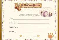 Teddy Bear Birth Certificate  Teddy Bear Tea  Teddy Bear Crafts inside Build A Bear Birth Certificate Template