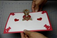 Teddy Bear Pop Up Card Tutorial  Youtube within Teddy Bear Pop Up Card Template Free