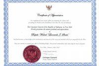 Template Award Of Appreciation Certificate Wording For Sample inside Gratitude Certificate Template