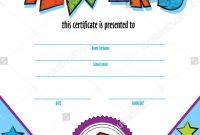 Template Child Certificate To Be Awarded Kindergarten Preschool pertaining to Children's Certificate Template