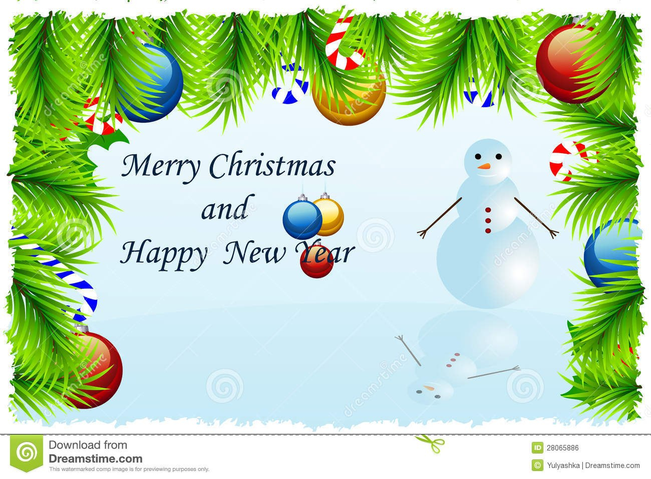Template Christmas Greeting Card Stock Vector  Illustration Of Intended For Christmas Photo Cards Templates Free Downloads