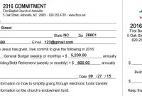 Template Church Pledge Card  Savethemdctrails throughout Pledge Card Template For Church