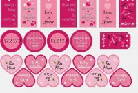 Template Dog Treat Label Template Pink Valentine Free Dog Treat inside Dog Treat Label Template
