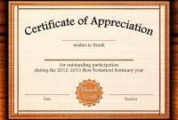 Template Editable Certificate Of Appreciation Template Free intended for Best Teacher Certificate Templates Free