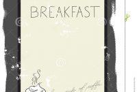 Template For Breakfast Menu Stock Vector  Illustration Of Menu regarding Breakfast Menu Template Word