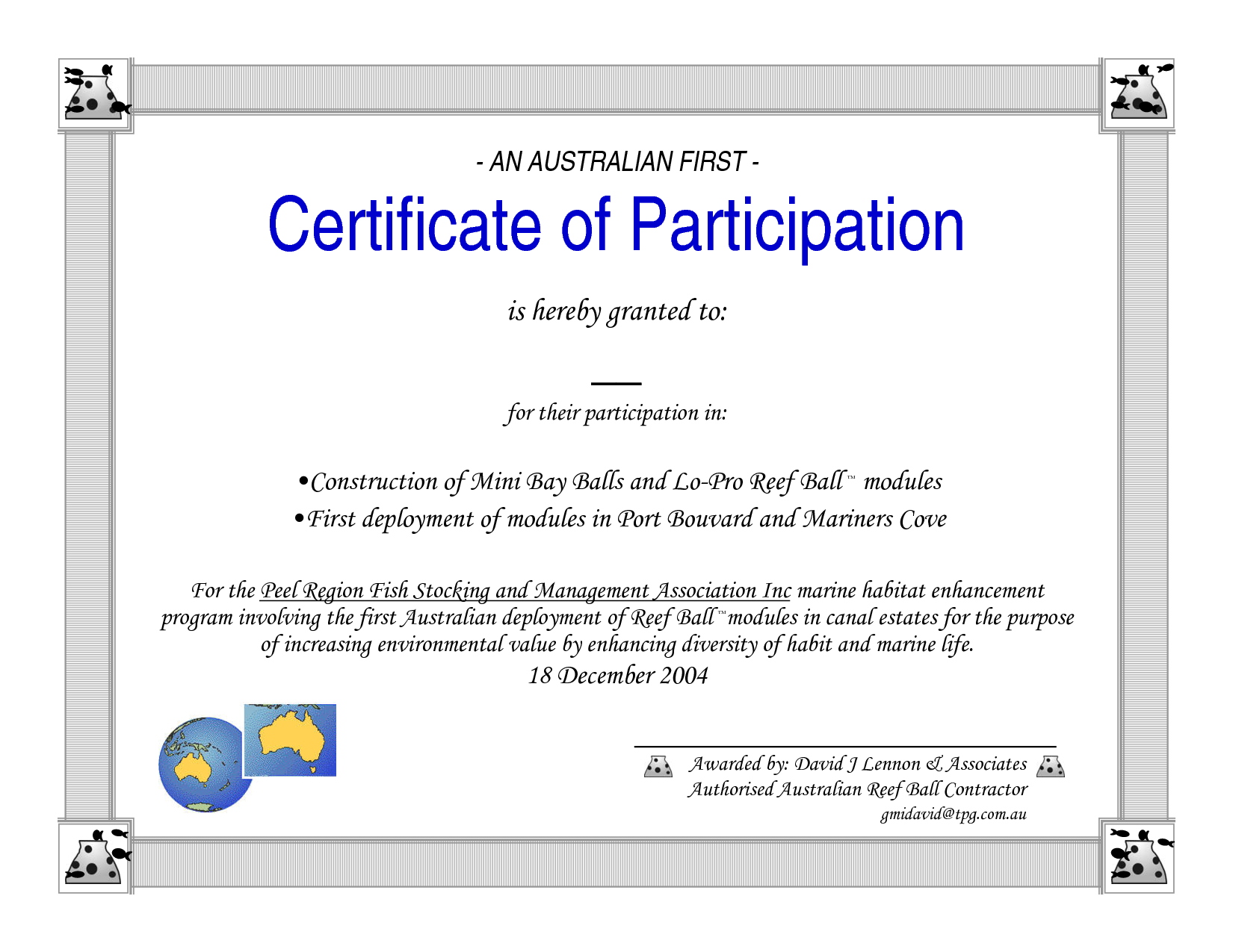 Template For Certificate Of Participation  Sansurabionetassociats Inside Free Templates For Certificates Of Participation
