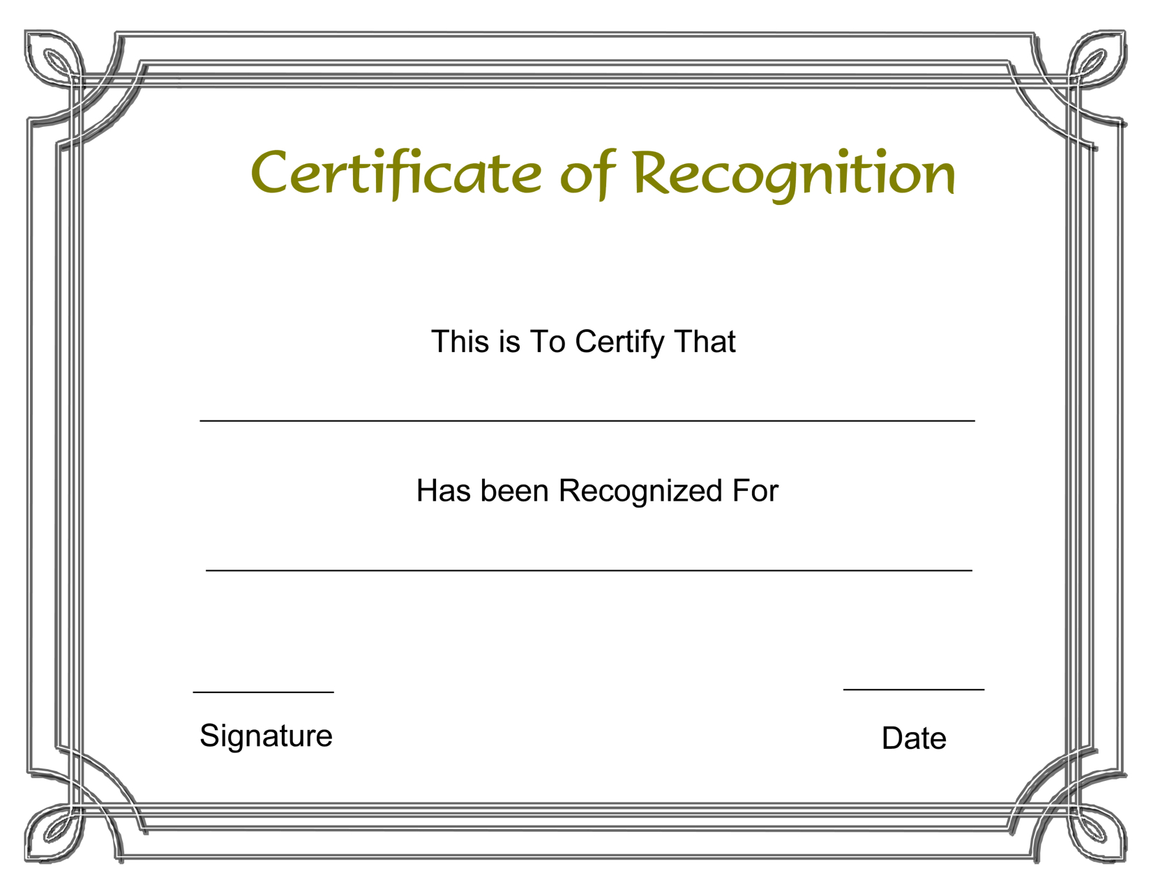 Template Free Award Certificate Templates And Employee Recognition Pertaining To Sample Award Certificates Templates