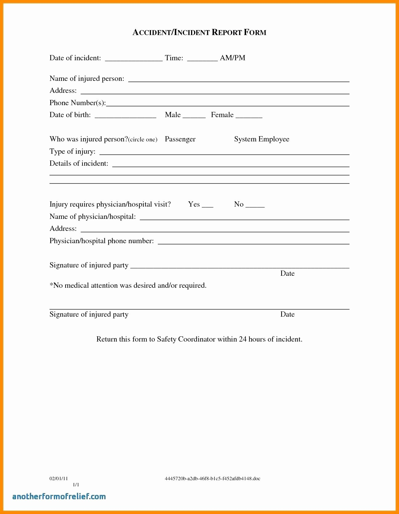 Template Ideas Accident Report Forms Incident Hazard Form And Within Hazard Incident Report Form Template