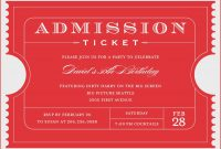 Template Ideas Admission Ticket For Word Lovely Masir Marvelous pertaining to Blank Admission Ticket Template