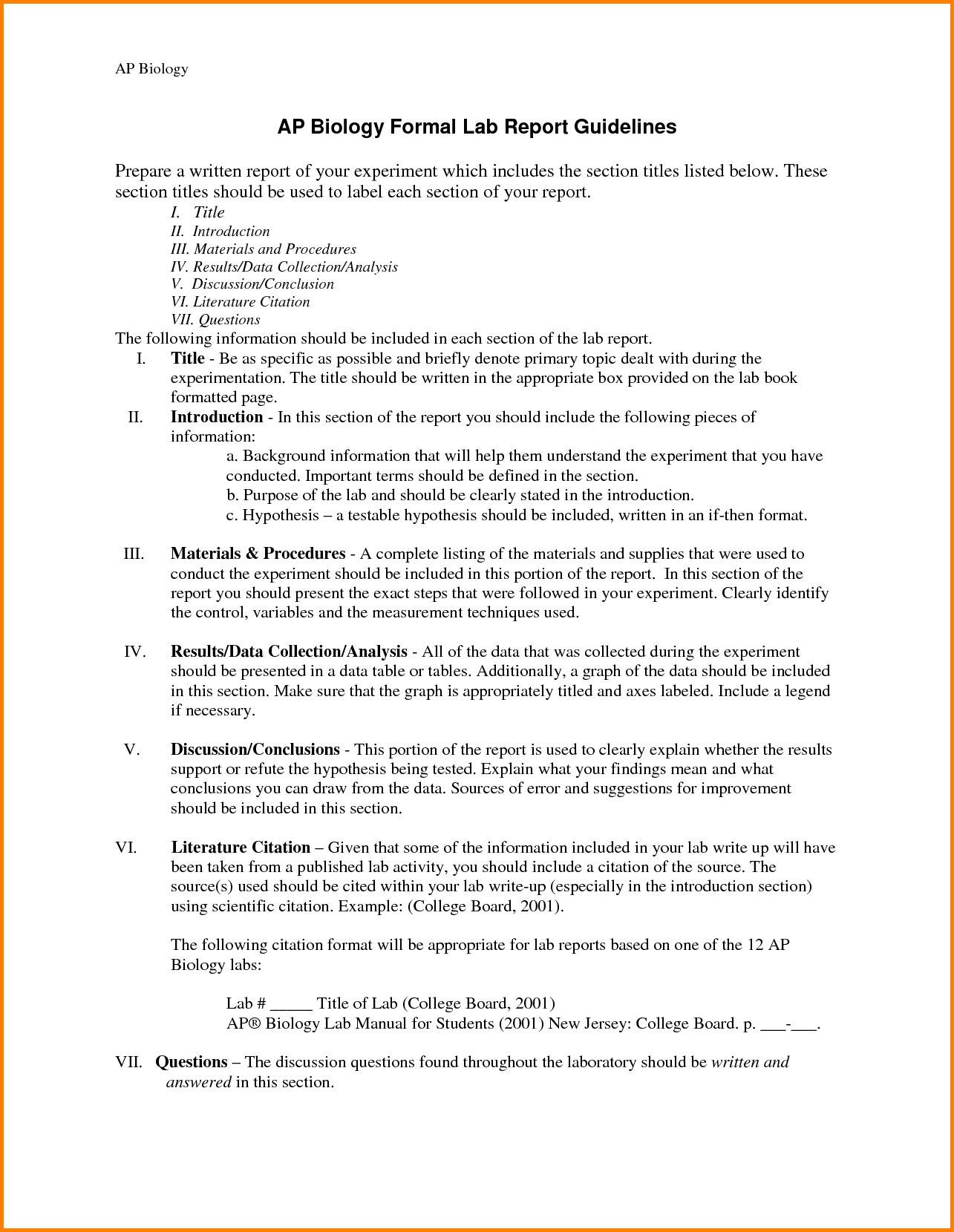 Template Ideas Biology Lab Report Collection Of Solutions With Biology Lab Report Template