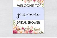 Template Ideas Bridal Shower Welcome Sign Resume Boho Editable with regard to Free Bridal Shower Banner Template