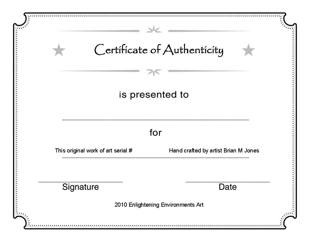 Template Ideas Certificate Of Authenticity Unforgettable Free Inside Certificate Of Authenticity Photography Template