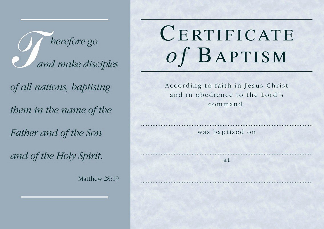 Template Ideas Certificate Of Baptism Free Word Awesome Regarding Baptism Certificate Template Word