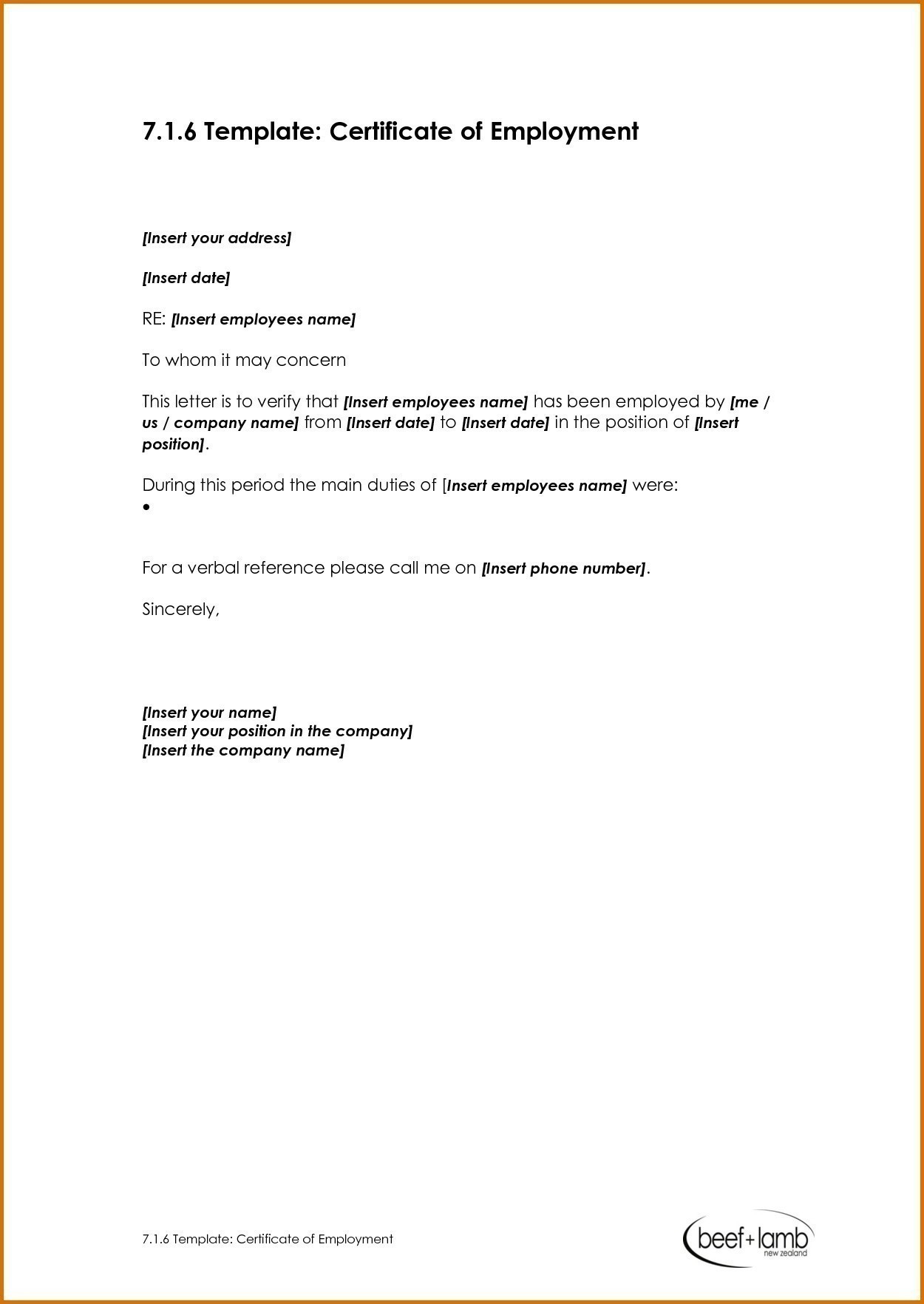 Template Ideas Certificate Of Remarkable Employment Word Samples In Template Of Certificate Of Employment