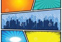 Template Ideas Comics Vector Retro Comic Book Speech Bubbles with Powerpoint Comic Template