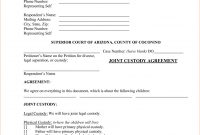 Template Ideas Custody Agreement Forms Joint Form Ontario Uk within Joint Check Agreement Template