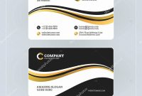 Template Ideas Double Sided Business Card Elegant With Abstract intended for Double Sided Business Card Template Illustrator